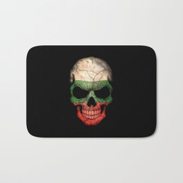 Dark Skull with Flag of Bulgaria Bath Mat