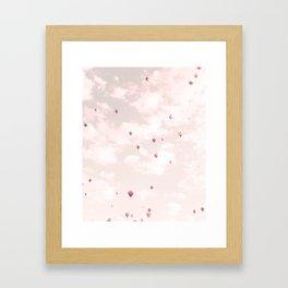 Hot Air Balloons, Violet Framed Art Print