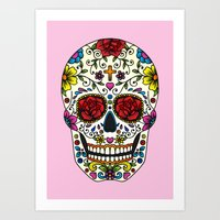 sugar skull Art Prints featuring Sugar Skull by Jade Boylan