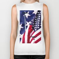 america Biker Tanks featuring America by TexasArt