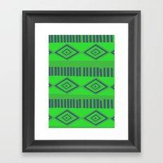 Green Mexican print Framed Art Print