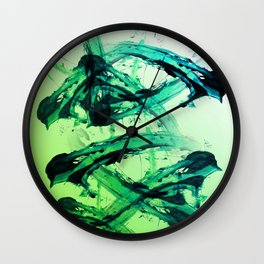Electric Greens Wall Clock