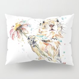 Gopher Colorful Watercolor Painting Pillow Sham