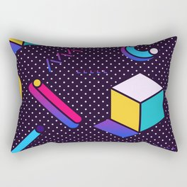 Bright Background in Neo Memphis Style Rectangular Pillow