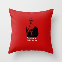 Cantona Is Legend In United Throw Pillow