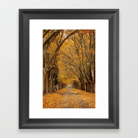 Fall Tunnel Framed Art Print