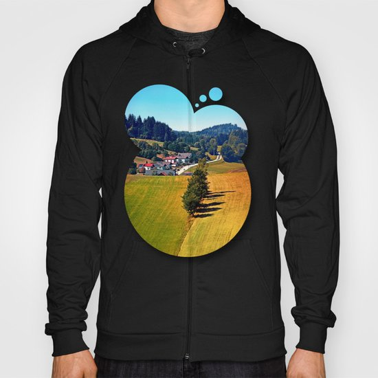 A village, some trees, and more boring scenery Hoody