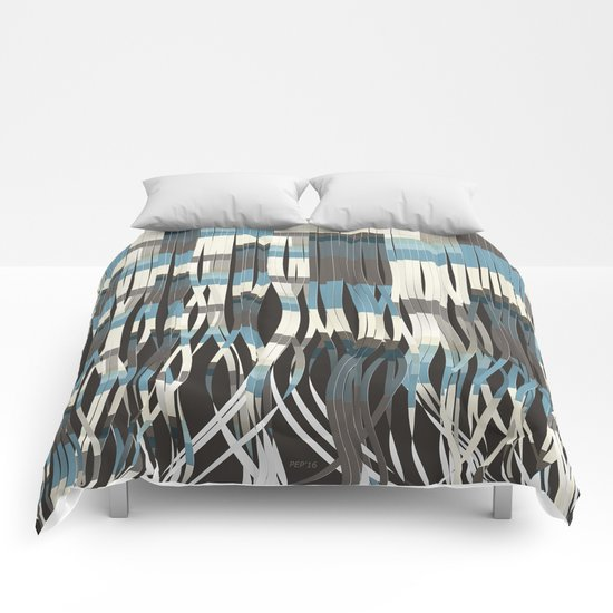Abstract Graphic Ribbons Comforters