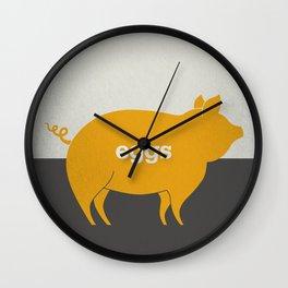 Eggs/Bacon Wall Clock