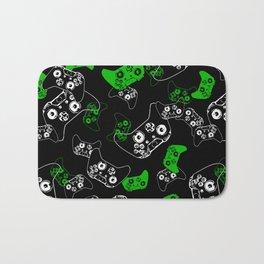 Video Game Black & Green Bath Mat