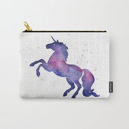 Galaxy Unicorn Watercolor Carry-All Pouch