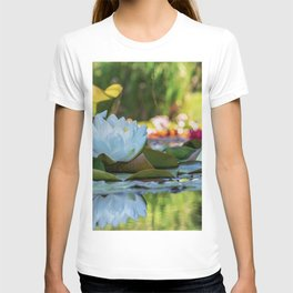 Water Water Lilies on Summer Pond T-shirt