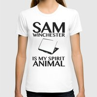 sam winchester T-shirts featuring Sam Winchester is my spirit animal by ElectricShotgun