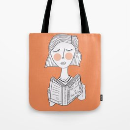 Reading Jane Austen is always a good idea. Tote Bag