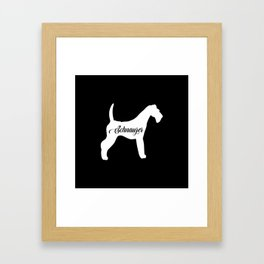Schnauzer Framed Art Print