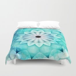 Starlight Aquas Kaleidoscope Duvet Cover