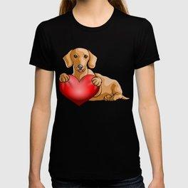 Valentines Dachshund T-shirt