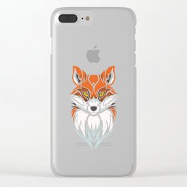 Tribal Fox - Wild Animal Art - Exotic Animals Clear iPhone Case