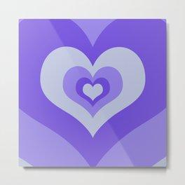 Radiating hearts Purple Metal Print