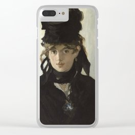 Edouard Manet - Young woman in a black hat Clear iPhone Case