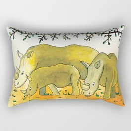 Noah's Ark - Rhino Rectangular Pillow