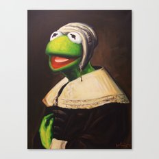 Portrait Of A Young Frog Canvas Print
