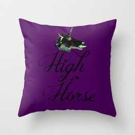 """""""Get on your High Horse"""" Throw Pillow"""