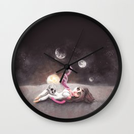 Lost far away from home Wall Clock