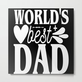 Best Father Father's Day Gift Metal Print