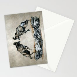 Fighting Bighorn Sheep Rams Stationery Cards