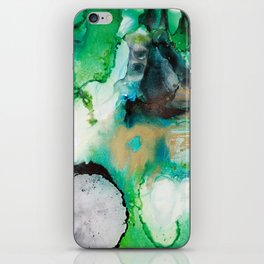 Rainbow End Ink Abstract Painting iPhone Skin
