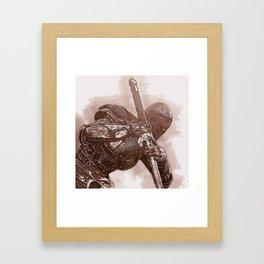 Medieval Warrior Framed Art Print