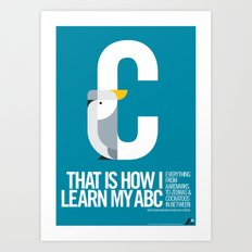 Animal Alphabet C Art Print