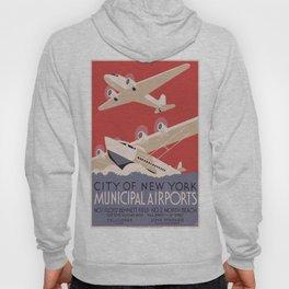 Vintage poster - New York Municipal Airports Hoody