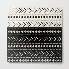 Mudcloth Colorblock Metal Print