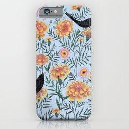Blackbirds in the Marigolds iPhone Case