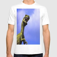 Aruba's T-Rex MEDIUM Mens Fitted Tee White