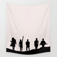 1d Wall Tapestries featuring 1D Silhouettes by LithiumCrystal