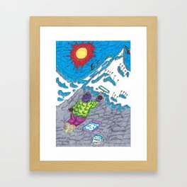 Painting a Mountain Framed Art Print
