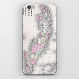 Vintage Map of Cuba (1861) iPhone Skin
