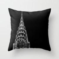 dark side Throw Pillows featuring Dark side by Françoise Reina