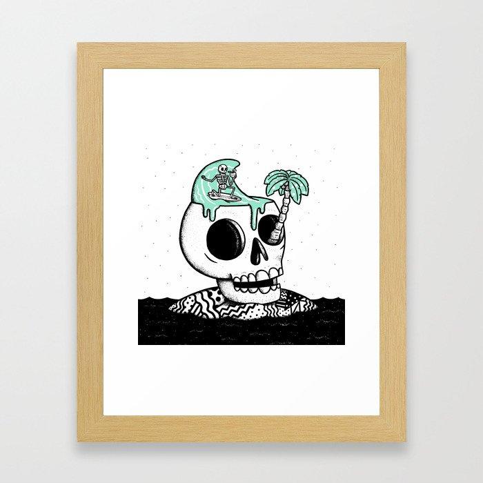 Surfer Thoughts Framed Art Print