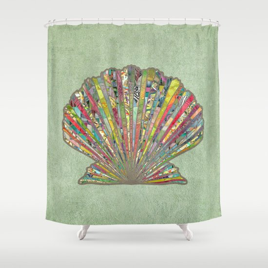 Sea Shell Shower Curtain