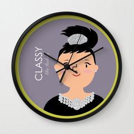 Classy like Audrey Hepburn Wall Clock