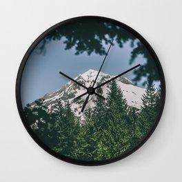 Mount Hood IX Wall Clock
