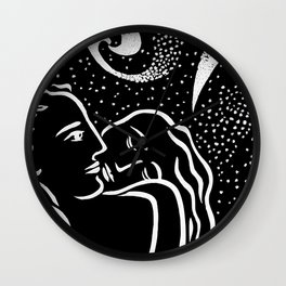 STARRY NIGHT (Square crop) Wall Clock