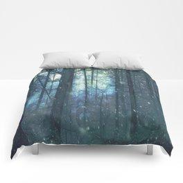 The Woods In Winter Comforters