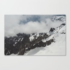 Clouds Shrouding Mont Blanc Canvas Print
