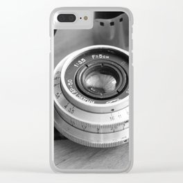 Accessories from old film cameras. Clear iPhone Case