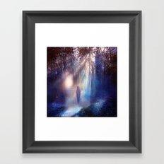 Path lights Framed Art Print